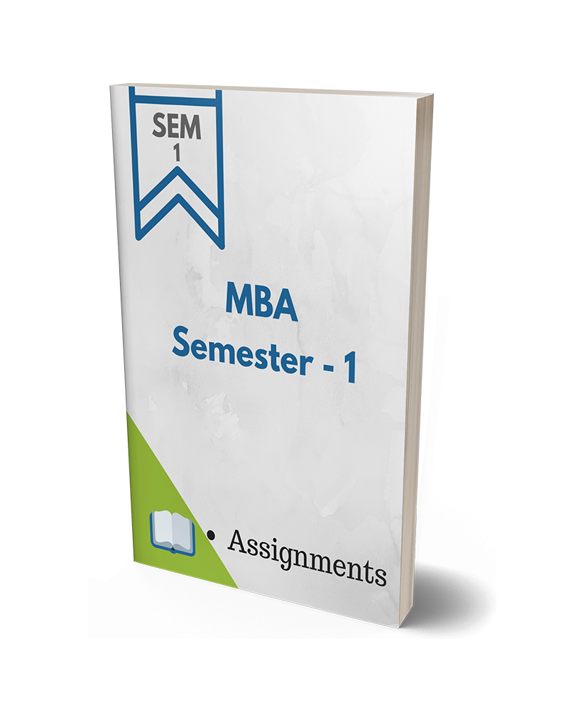 mba solved assignments